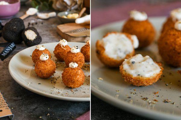 Croquetas de queso y trufa