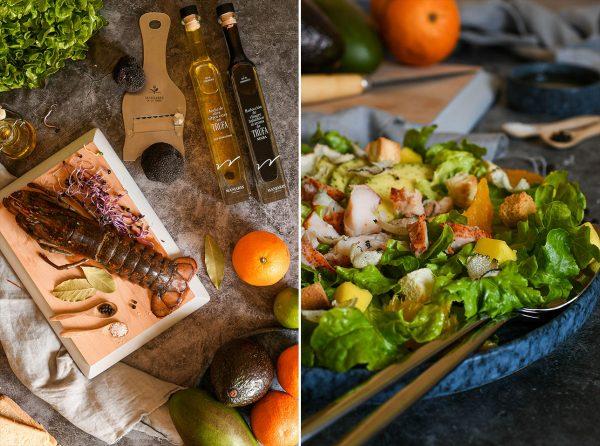 Ensalada de bogavante, trufa de verano y cítricos