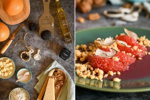 Gelatina de pomelo y trufa