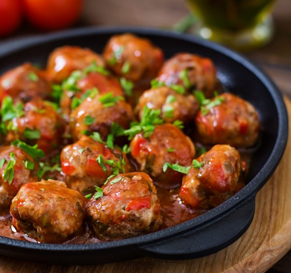 Traditional grandmother's meatballs