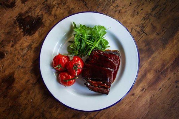 Salsa con trufa para carne