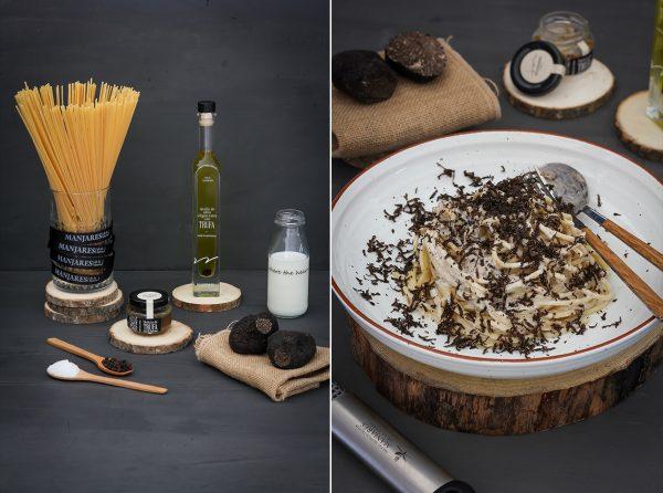 Spaguettis con Delicia de trufa negra