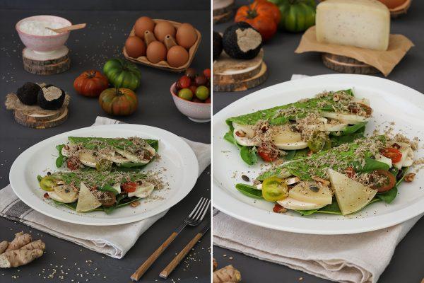 Crepes Vegetales de espinacas y queso